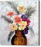 Bowl Of Flowers Acrylic Print