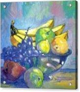 Bowl Of Fresh Fruit Acrylic Print