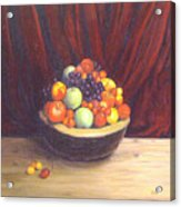 Bowl Of Fruits Acrylic Print