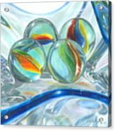 Bowl Of Marbles Acrylic Print