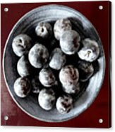 Bowl Of Plums Still Life Acrylic Print