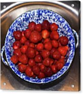 Bowl Of Strawberries 1 Acrylic Print by Douglas Barnett