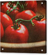 Bowl Of Tomatoes Acrylic Print
