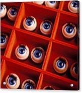 Box Full Of Doll Eyes Acrylic Print