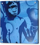 Boxer In Blue Acrylic Print