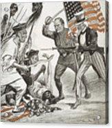 Boxer Rebellion Cartoon Acrylic Print