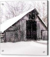 Boxley Snow Barn Acrylic Print