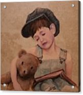 Boy And Bear  Acrylic Print