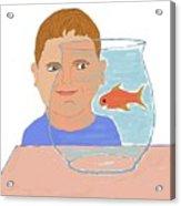 Boy And Fish Acrylic Print