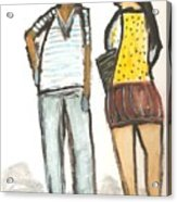 Boy And Girl After School Acrylic Print