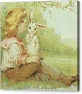 Boy And Rabbit Acrylic Print