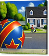 Boy and the Ball  Acrylic Print