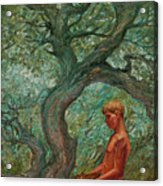 Boy And Tree Acrylic Print