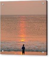 Boy At Sunrise Acrylic Print