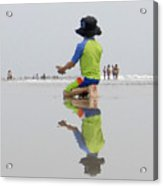 Boy At The Beach Acrylic Print