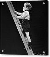 Boy Climbing Tall Ladder, C.1930s Acrylic Print