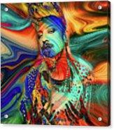 Boy George Digital Art Acrylic Print