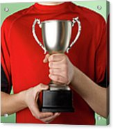 Boy Holding Trophy Acrylic Print by Jeffrey Coolidge