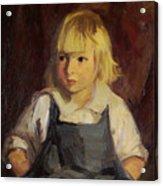 Boy In Blue Overalls Acrylic Print by Robert Henri
