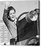 Boy In In Go-cart, C.1940-30s Acrylic Print