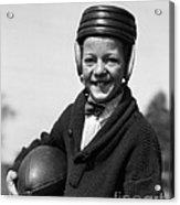 Boy In Old-fashioined Football Gear Acrylic Print