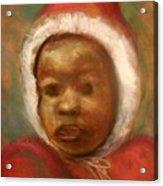 Boy In Red Acrylic Print