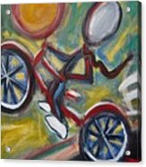 Boy On A Bike Acrylic Print