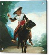 Boy On A Ram Acrylic Print