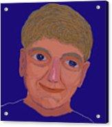 Boy On Blue Acrylic Print