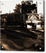 Boy On The Tracks Acrylic Print