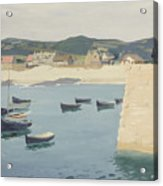 Boy Reading On A Harbour's Edge  Acrylic Print by William Strang
