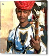 Boy With A Flute Acrylic Print
