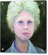Boy With Curly Hair Acrylic Print