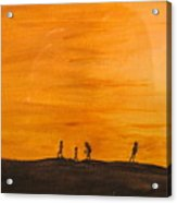 Boys At Sunset Acrylic Print