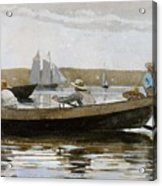 Boys In A Dory, By Winslow Homer, Acrylic Print