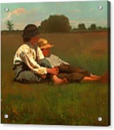 Boys In A Pasture Acrylic Print