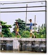 Boys In Bangkok Acrylic Print