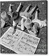 Boys Reading Newspaper Comics, C.1950s Acrylic Print