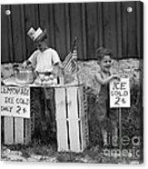 Boys Selling Lemonade, C.1940s Acrylic Print