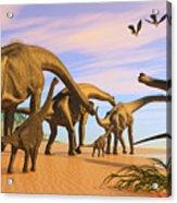 Brachiosaurus Beach Acrylic Print