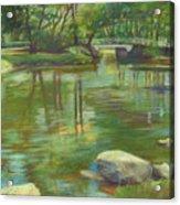 Bradford Ma College Pond Acrylic Print