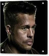 Brad Pitt As Lt Aldo Paine Publicity Photo The Inglourious Bastards 2009 Color Added 2016 Acrylic Print