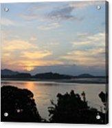 Brahmaputra Sunset Acrylic Print