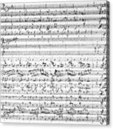 Brahms Manuscript Acrylic Print