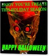 Brain Desert Halloween Card Acrylic Print