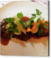 Braised Beef With Vegetables Acrylic Print