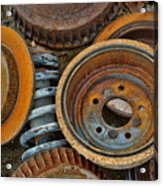 Brake Drums - Disc Brakes - Shock Assembly Acrylic Print