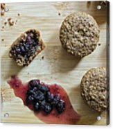 Bran Muffins With Mulberry Jam Acrylic Print