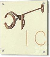 Branding Iron Acrylic Print
