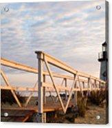 Brant Point Lighthouse And Walkway - Nantucket Acrylic Print